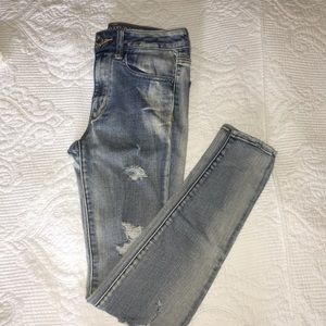 American Eagle high rise ripped jeggings